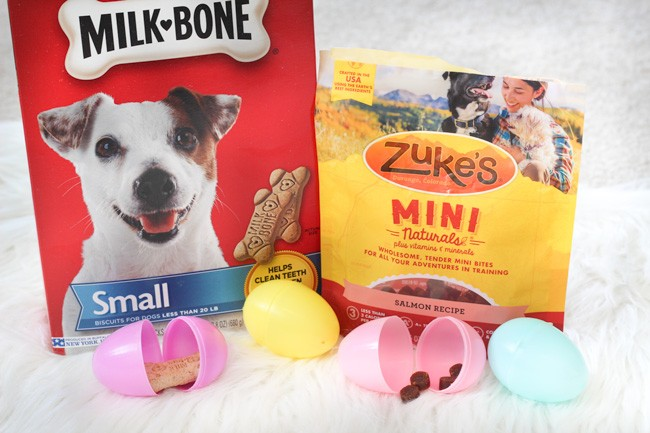 Dog treats and Easter eggs